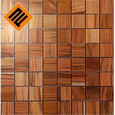 Деревянная мозаика  коллекция 8х8 Тик