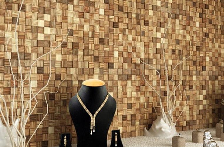 деревянная мозаика на пол и стены - плитка из дерева в Одессе