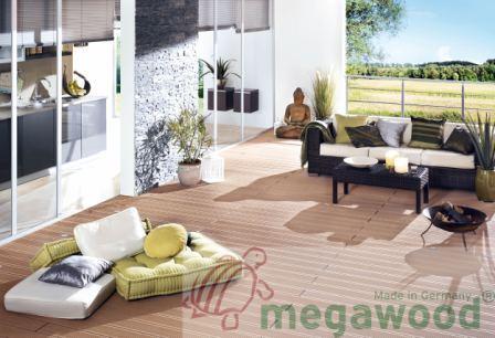 террасная доска, террасная система, композит Megawood